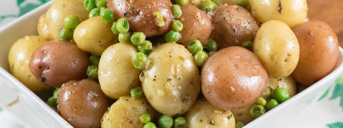 Herb Lemon Butter Peas and Little Potatoes