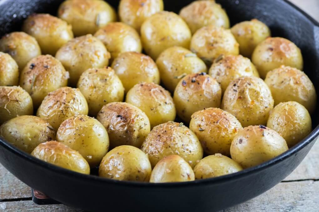 Garlic Rosemary Fondant Potatoes