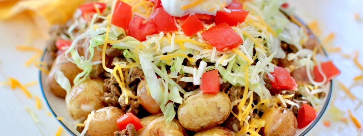 Easy Grilled Taco Potatoes