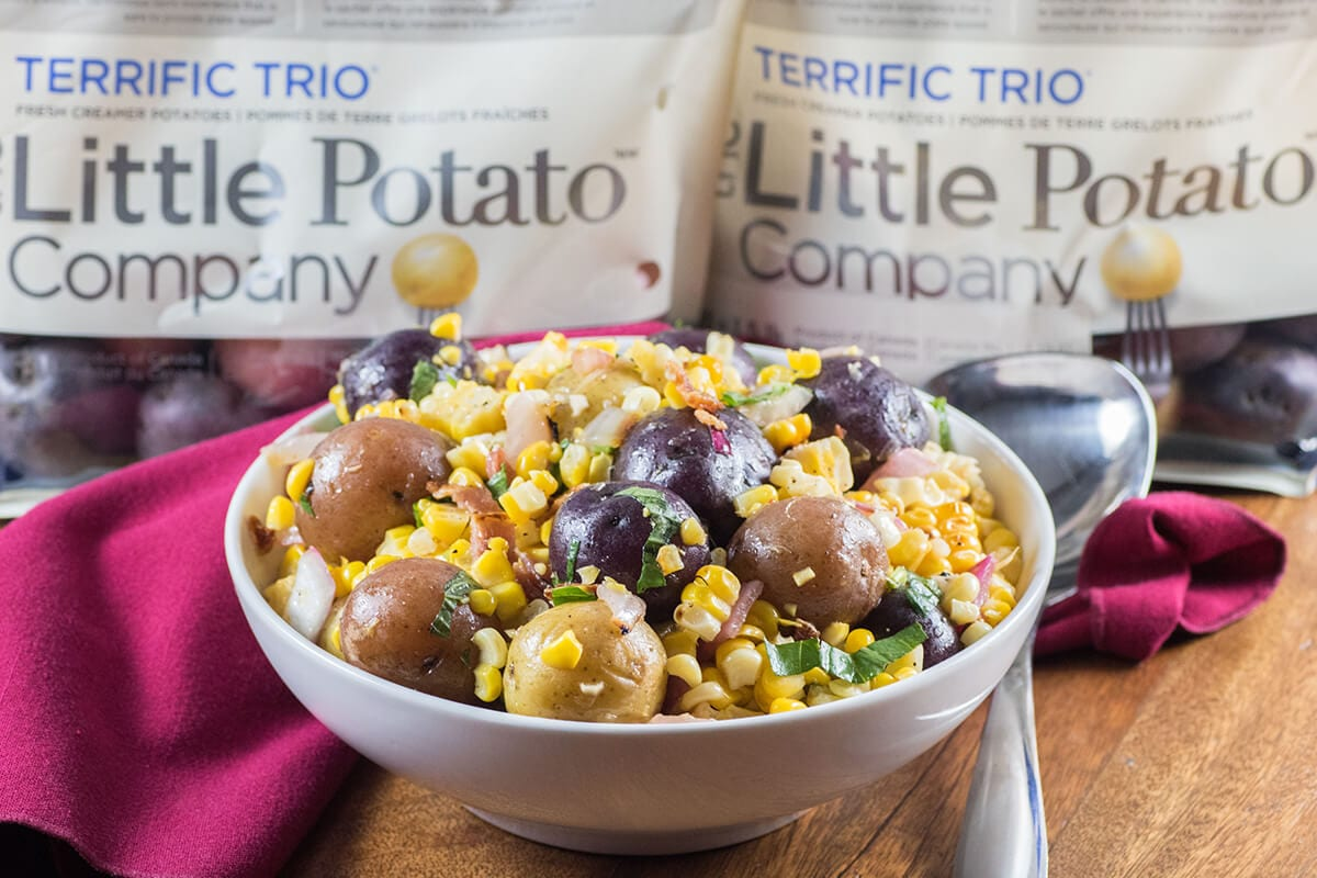 Little Potato Charred Corn Salad