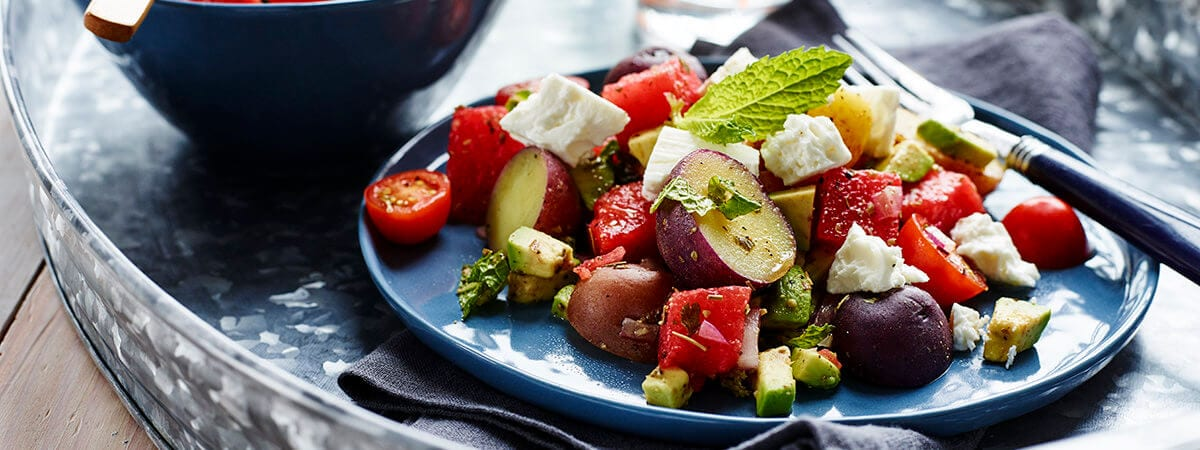 Watermelon and Potato Salad