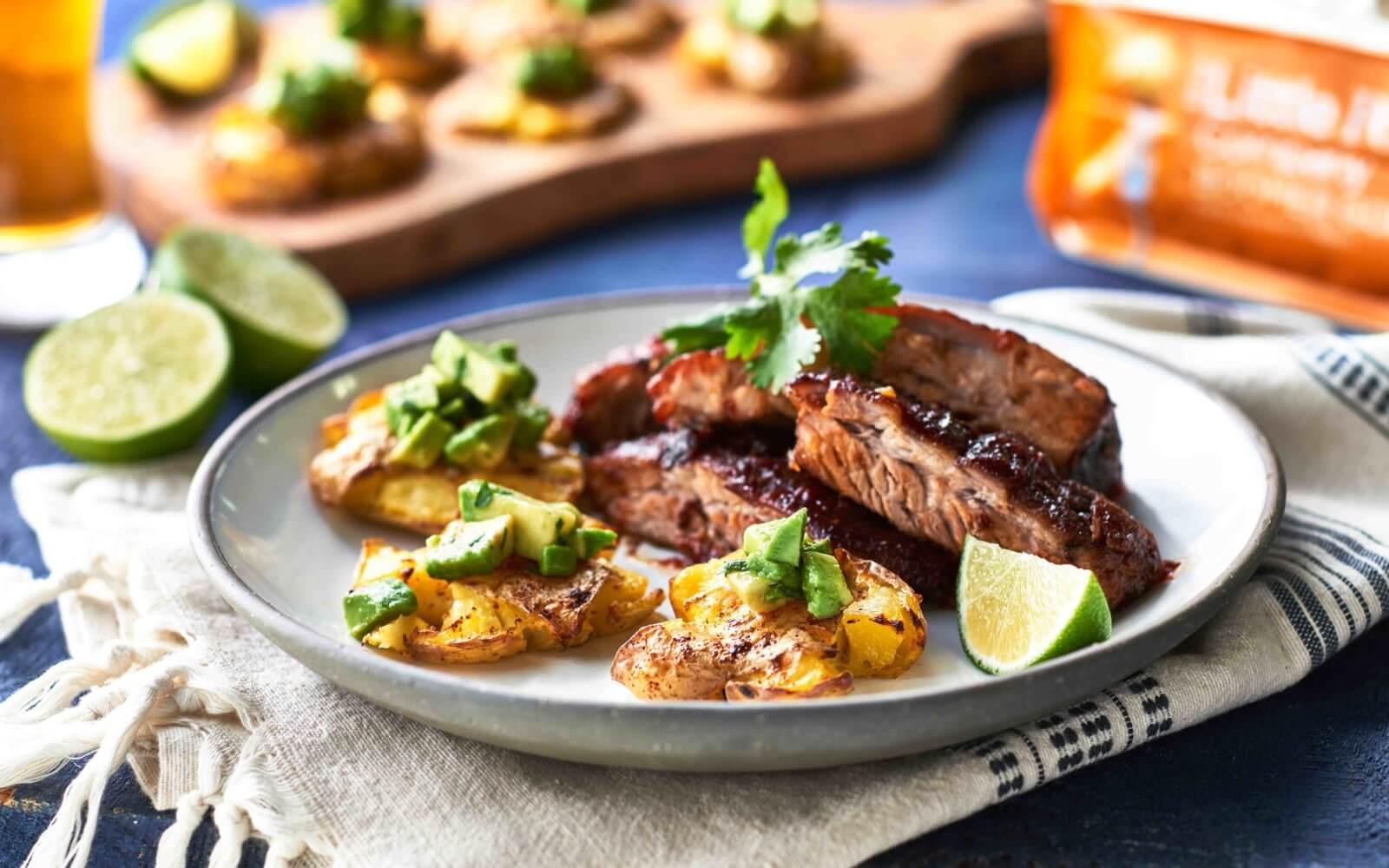 Michael's Mexican Chili Lime Smashed Potatoes