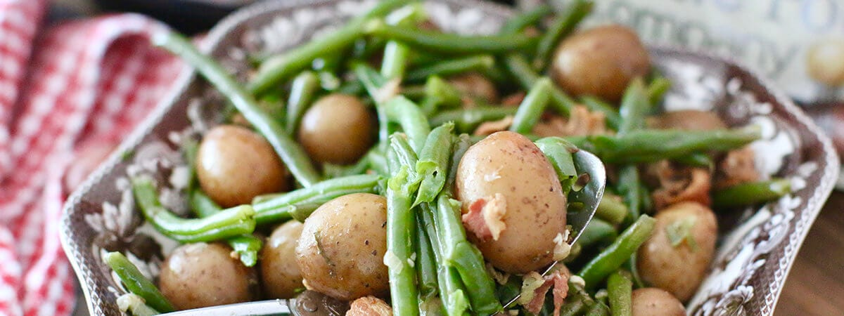 Instant Pot Southern Green Beans with Potatoes and Bacon