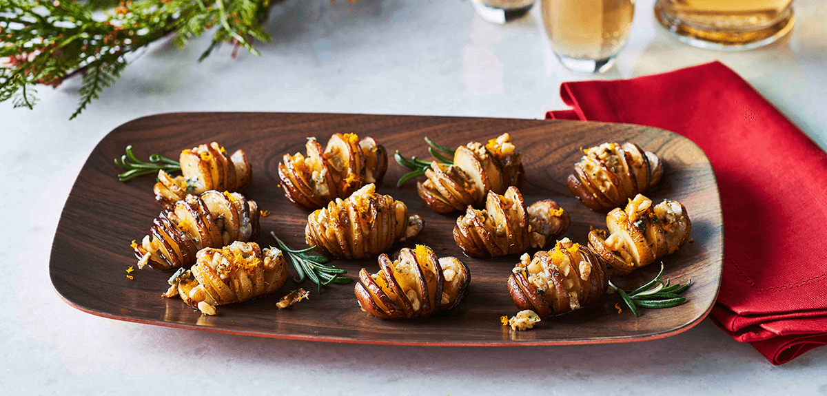 Little Holiday Hasselback Potatoes