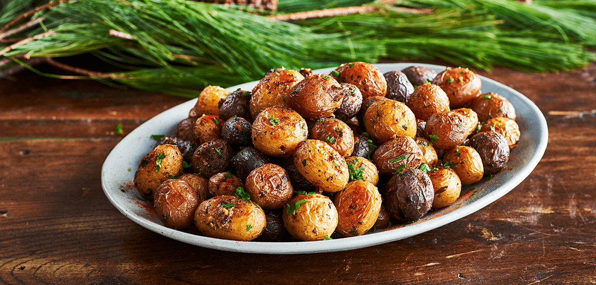 Perfect Garlic Roasted Little Potatoes