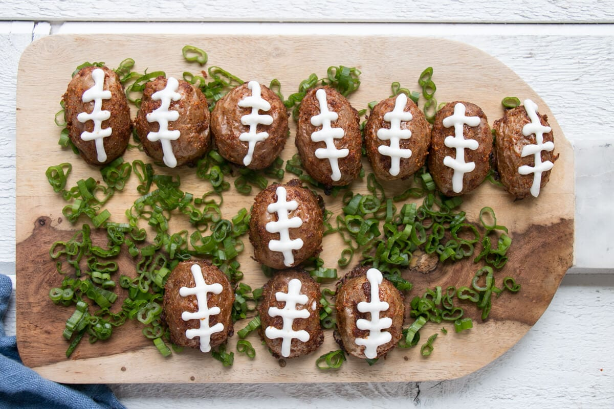 Crispy Football Potatoes