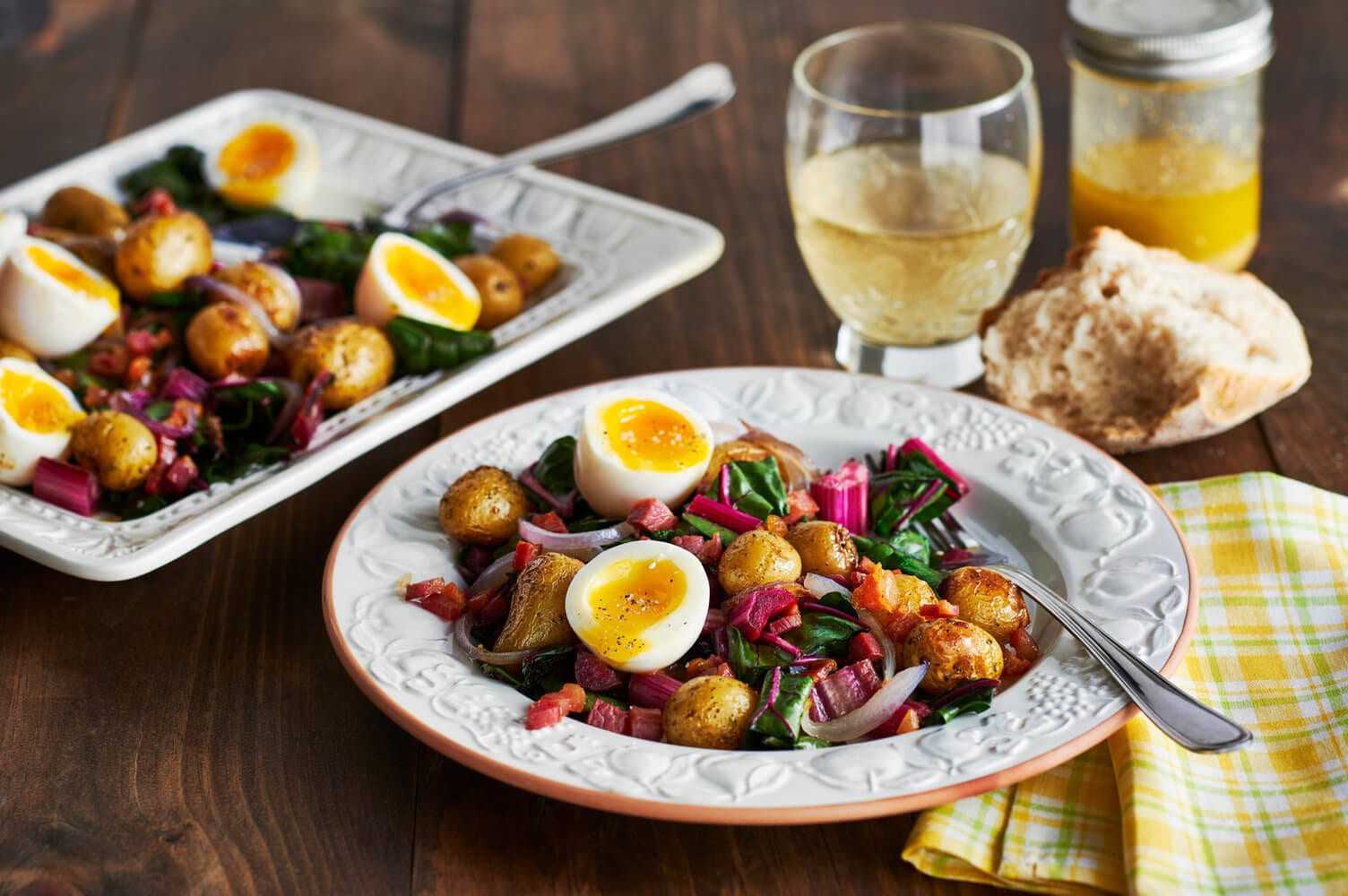 Potatoes with Swiss Chard and Soft-Boiled Eggs