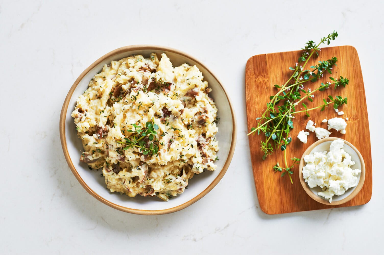 Goat Cheese and Thyme Mashed Potatoes