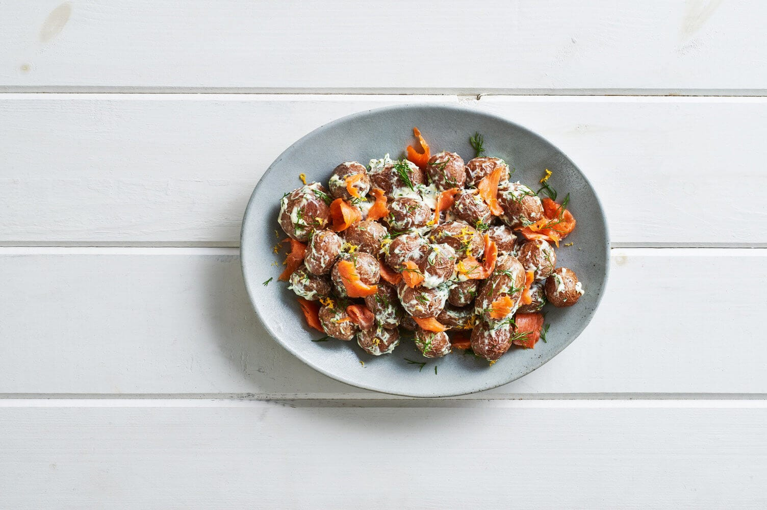 Lox and Cream Cheese Roasted Potatoes