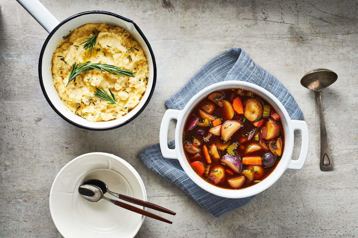 Slow Cooker Vegetable Stew with Polenta