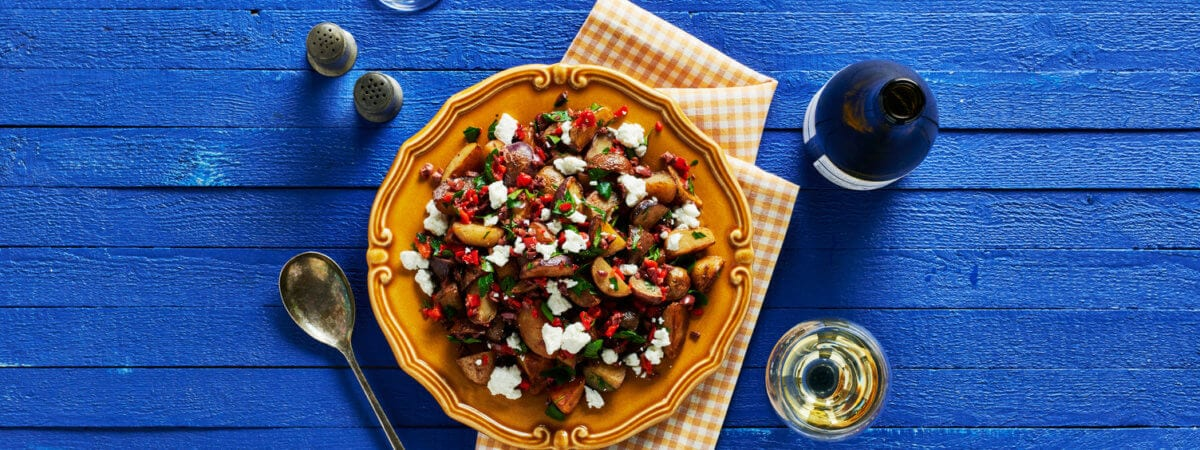Olive Oil and Roasted Red Pepper Little Potatoes