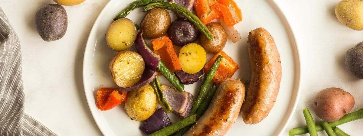 Sheet Pan Sausages and Potatoes