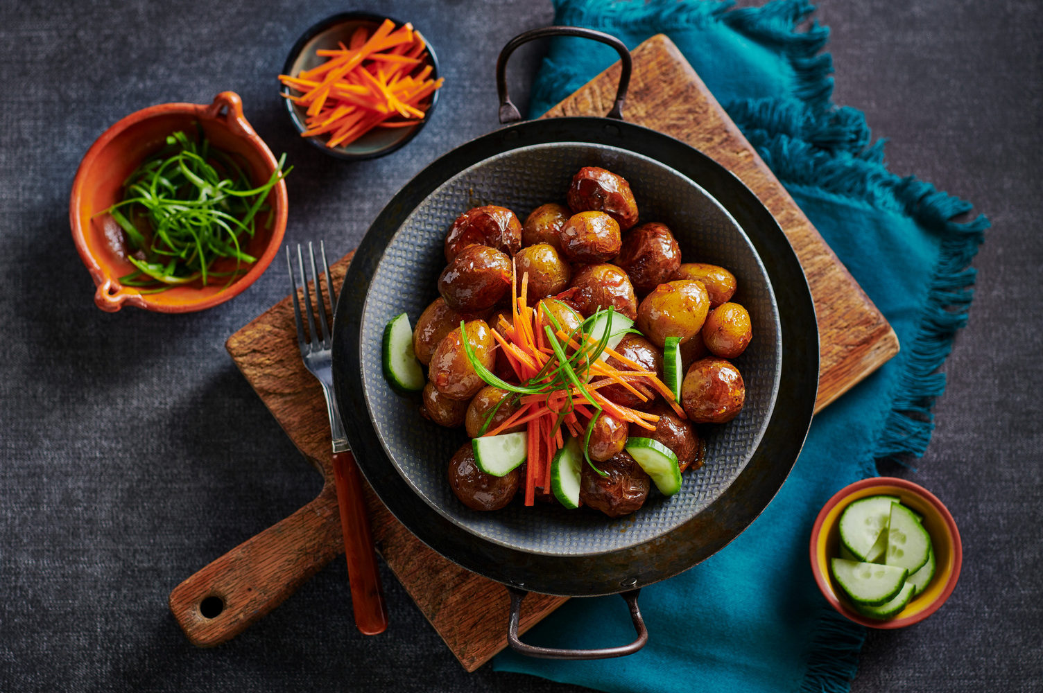 Sweet and Spicy Air Fryer Potatoes